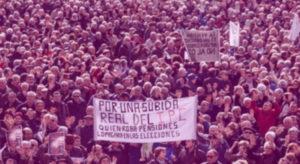 Autónomos participan manifestación por las pensiones