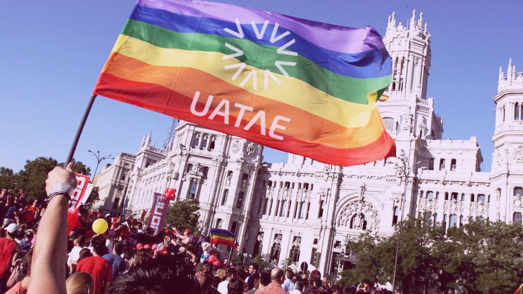UATAE participa en la manifestación Orgullo 2018 Madrid