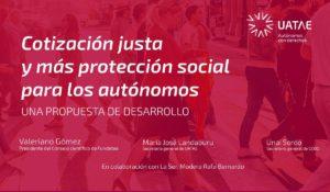 Una Cotización justa y más protección social para los autónomos