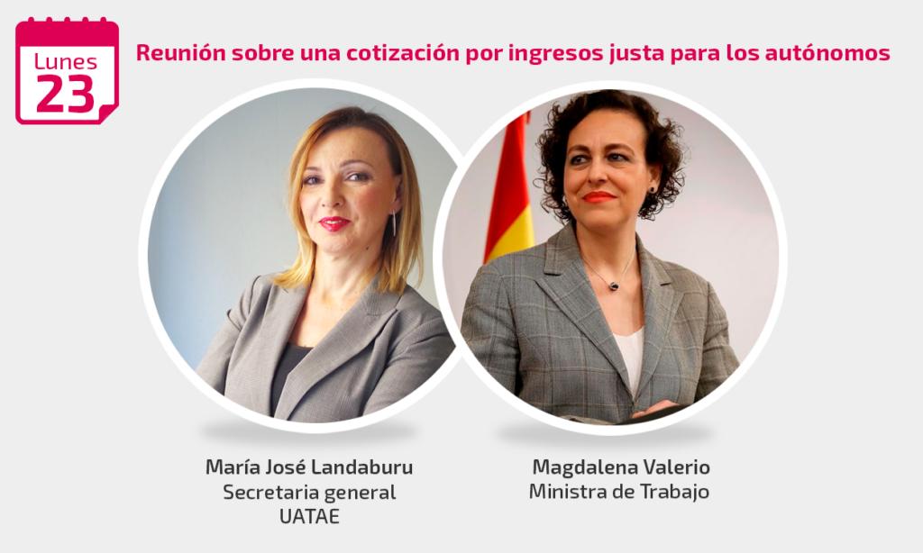 María José Landaburu se reúne con Magdalena Valerio