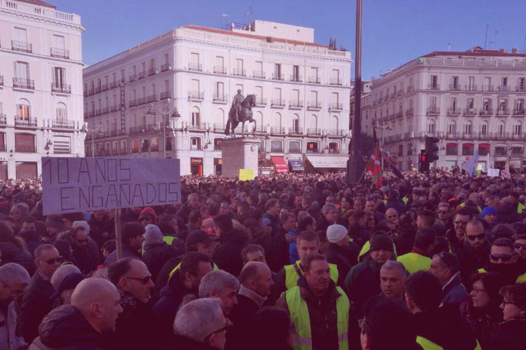 Taxistas en Huelga Madrid UATAE