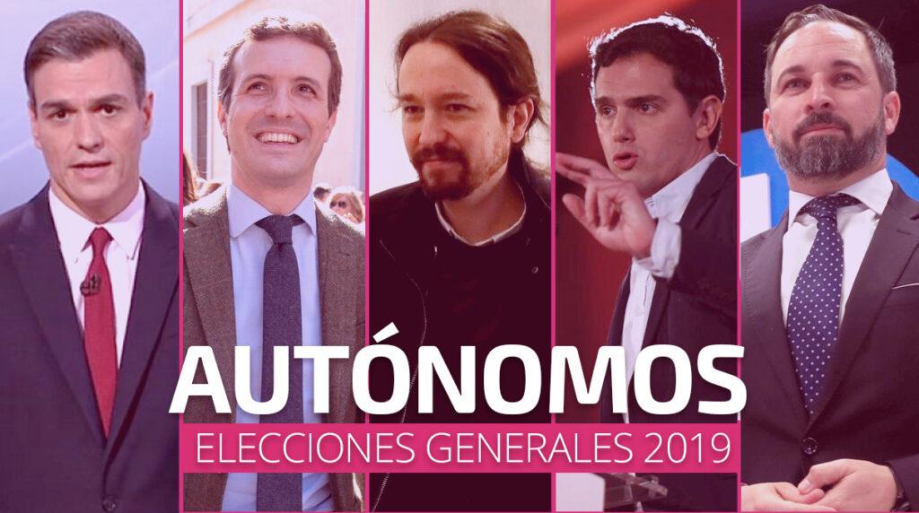 Programas electorales relativos a los autónomos 2019, uatae