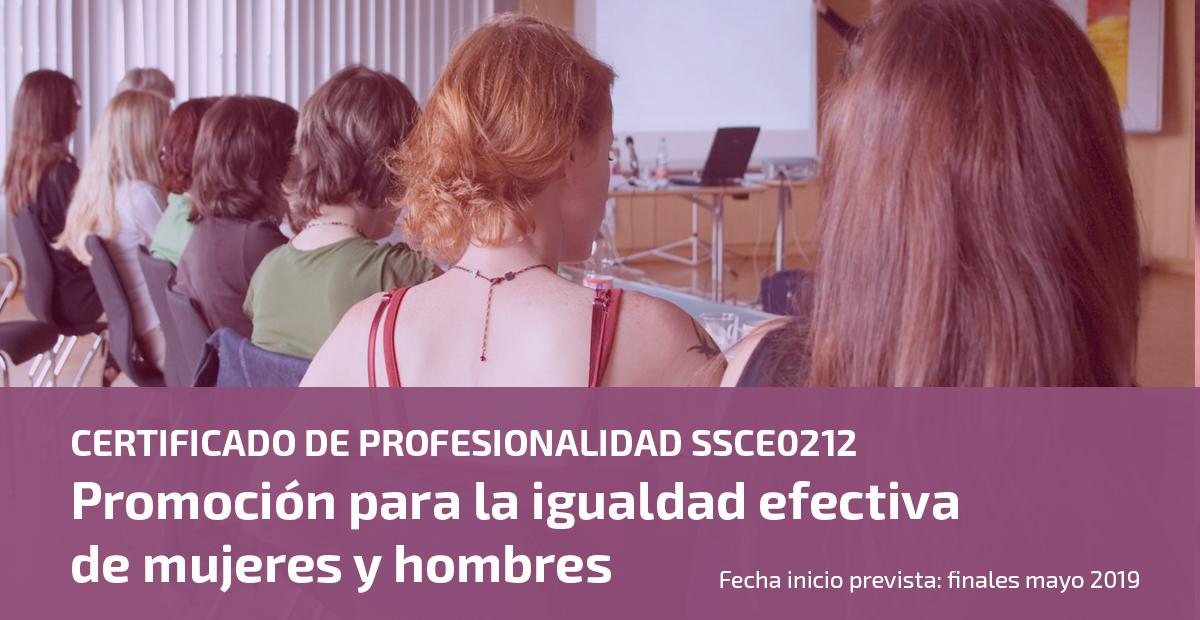 Certificado profesionalidad SSCE0212 promoción igualdad UATAE