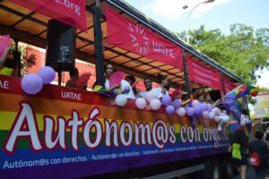 Carroza de UATAE en el Orgullo de Madrid LGTBI Autónomos