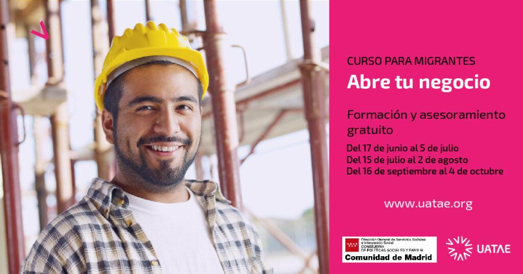 Curso para autoempleo personas migrantes Comunidad de Madrid UATAE 2019